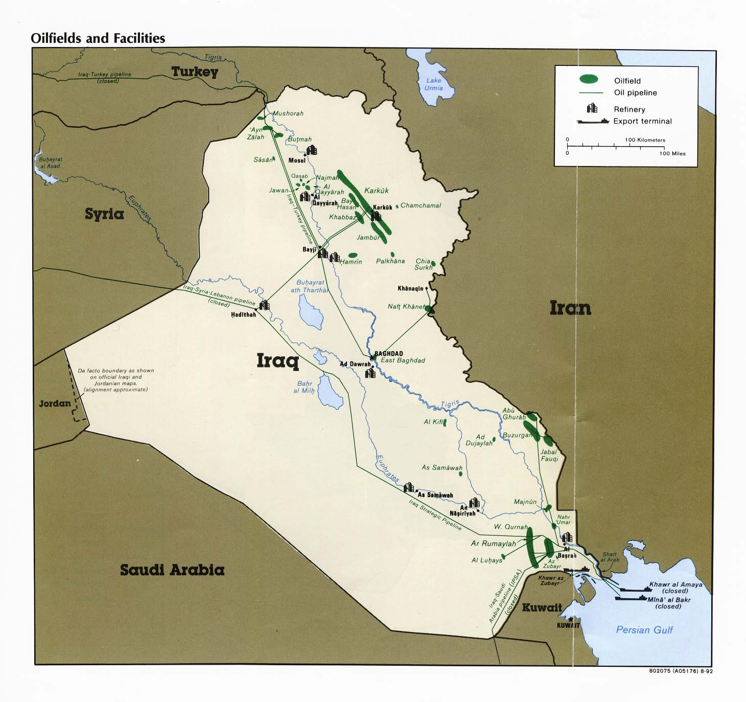 The Dossier Maps Charts - Map of iraq us military bases